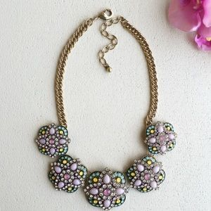 Pink pastels statement necklace